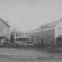 Image of Near Market Street and Amwell Road, East Millstone, NJ (c. 1909) -