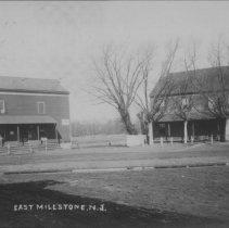 Image of Where Market Street meets Amwell Road, East Millstone, NJ (c. 1909) -