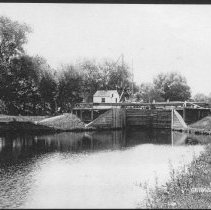 Image of D & R Canal Lock at Griggstown, NJ (c. 1910) -