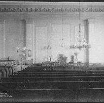 Image of Interior of Reformed Church, Griggstown, NJ (c. 1910)  -
