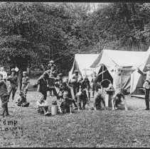 Image of Scout Camp at Griggstown, NJ (c. 1910) -