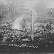 Image of Ruins of the Factory Fire, East Millstone, NJ (1912) - 1912