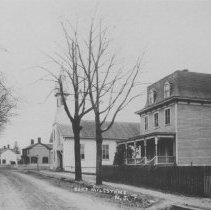 Image of St. Joseph's Roman Catholic Church and Livingston Avenue, East Millstone, NJ (c. 1910) -