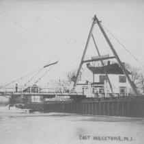 Image of View of Swing Bridge, East Millstone, NJ (c. 1909) -
