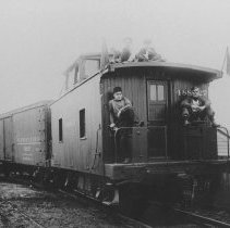 Image of Railroad Cars, East Millstone, NJ (c. 1910) -