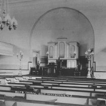Image of Interior of Dutch Reformed Church of East Millstone, NJ (c. 1910) -