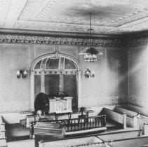 Image of Interior of United Methodist Church, East Millstone, NJ (c. 1910) -