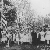 Image of Flag Raising, East Millstone, NJ (c. 1912) -