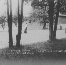 Image of Tennis Court at the Carter School, East Millstone, NJ (c. 1905) -