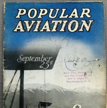 "Image of Aviation Magazine: ""Popular Aviation"" - 0002.1927.01 Popular Aviation"
