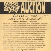 Image of Poster, Clara Abel Estate Auction