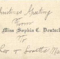 Image of Card, Calling, Sophia Deutsch