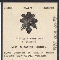 Image of Card, Prayer, Elizabeth Lochen