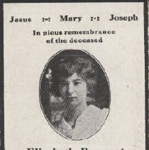 Image of Card, Prayer, Elisabeth Ruppert