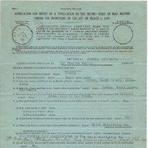 Image of 1998.048.0008 - Application, Registration