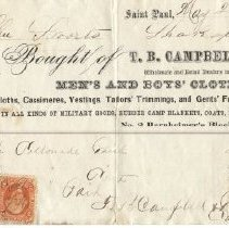 Image of Receipt, T. B. Campbell & Bro.