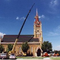 Image of Photo, Repair Work at St. Mark's Catholic Church