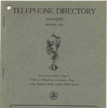 Image of Directory, Telephone, Shakopee 1950