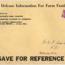 Image of Envelope, Civil Defense Inform