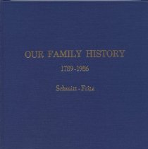 Image of Book, Our Family History; 1789-1986