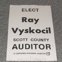 Image of Sign, Political, Ray Vyskocil