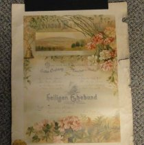 Image of 2011.020.0063 - Certificate, Marriage