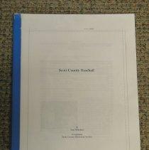 Image of Manuscript, Scott County Baseball