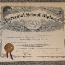 Image of 2011.041.0002 - Diploma