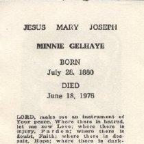 Image of 2013.026.0002 - Card, Prayer