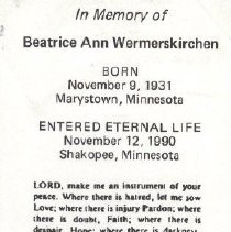 Image of 2013.026.0018 - Card, Prayer