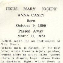 Image of 2013.026.0028 - Card, Prayer
