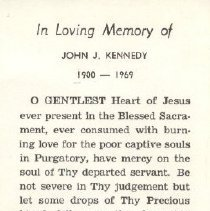 Image of 2013.026.0041 - Card, Prayer