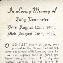Image of 2013.026.0106 - Card, Prayer