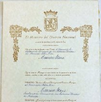 Image of 2008.005.0110 - Certificate, Commemorative