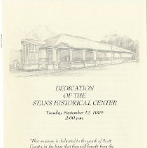 Image of Program, Dedication of the Stans Historical Center