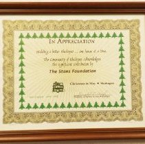 Image of Certificate, Commemorative, Christmas in May
