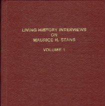 Image of Book, Living History Interviews on Maurice H. Stans