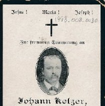 Image of Card, Prayer, Johann Ketzer