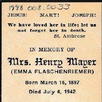 Image of Card, Prayer, Emma Mayer