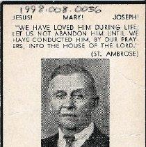 Image of Card, Prayer, Joseph Hauer