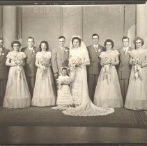 Image of Photo, Jerome and Leona Schmitz Bridal Party