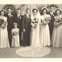 Image of Photo, Bernice and Jerome Sand Bridal Party