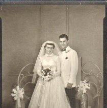 Image of Photo, Wedding Portrait of Lawrence and Mary Jane Kes
