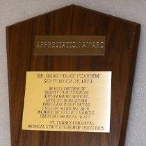Image of Plaque, Dr. Bror F. Pearson