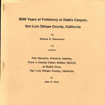Image of 9000 Years of Prehistory at Diablo Canyon, San Luis Obispo County, California - 9000 Years of Prehistory at Diablo Canyon, San Luis Obispo County, California
