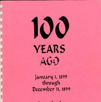 Image of 100 Years Ago 1899 - One Hundred Years Ago, January 1, 1899 through December 21, 1899 /Morning Tribune (San Luis Obispo, California)