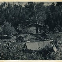 Image of 08/22/1945 - Tent at Frenchie's Camp