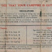 Image of 1929 Angling Permit (back)