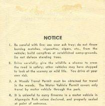 Image of 1956 Vehicle Permit - Back