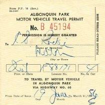 Image of 2004.45.1 - License, Transportation